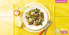 Biefstukpuntjes met gegrilde aardappeltjes en bascilicummayonaise Lidl, Risotto, Om, Tacos, Mexican, Dinner, Ethnic Recipes, Dining, Food Dinners