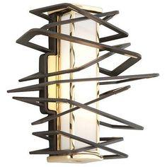 "Corbett Tantrum 11 1/2"" High LED Bronze Wall Sconce"