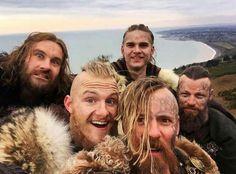 Rollo, Hvitserk, Bjorn, Halfdan and Harald - Vikings
