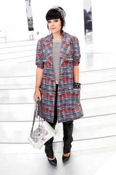 All of the best-dressed attendees spotted front row at Paris Couture Week. Lily Allen at Chanel.