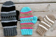 Dylan Mittens Crochet Pattern pdf by BySincerelyPam on Etsy, $5.00