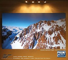 Elite Screens Aeon Series, Sleek EDGE FREE Tensioned Fixed Frame Projection/Projector Screen, 100-inch Diag. 16:9, AR100WH2   Elite Screens Aeon Series, Sleek EDGE FREE Tensioned Fixed Frame Projection/Projector Screen, 100-inch Diag. 16:9, AR100WH2 Elite Screens' Aeon Series of projector screens are perfect for creating a stylishly sleek and exciting theater experience. Aeon uses Elites' innovative EDGE FREE design that mimics the look of a flat screen television display, but amplif..