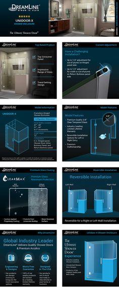 89a3233ffc42c DreamLine Unidoor-X 60 in. W x 36-3 8 in. D x 72 in. H Frameless Hinged  Shower Enclosure in Satin Black-E130243436-09