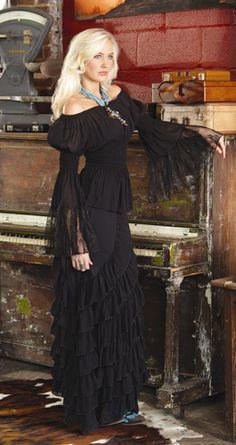 """""""Halloween Queen"""" Zorro skirt/Peasant top marrikanakk.com"""