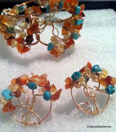 Tree of Life Earrings Wire sculpture Art Ooak by Originalsbydenise