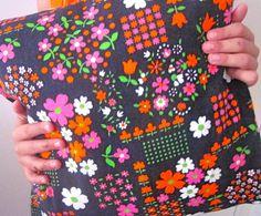 Pomme de Jour Vintage Fabric Cushion Cover  1970s by Pommedejour, $24.00