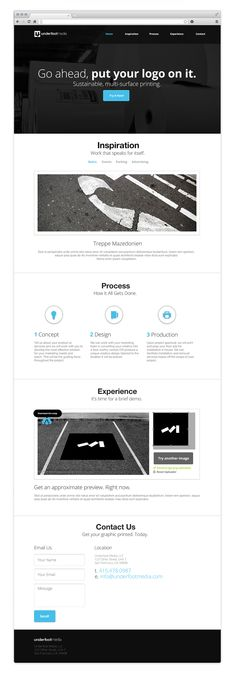 Underfoot Media by Alex S. Lakas #ui #website #webdesign