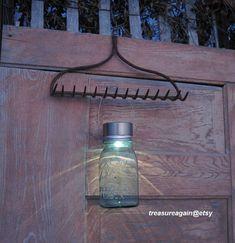 garden rake solar light set ball mason jar solar light by treasureagainetsy ball mason jar solar lights