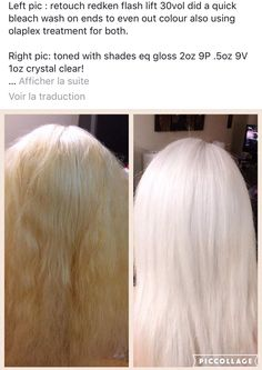 high lift blonde toned icy cool white pearl