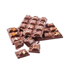 milk chocolate with nuts and raisins