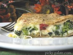 Made it: Ricotta Stuffed Spinach and Broccoli Pizza Pie. We love this recipe! I always make it as individual pizza pockets/calzones rather than one big pie--it tastes great and is (relatively) healthy!