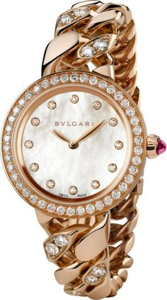 Bvlgari - 18ct Pink-gold and Diamond Watch in Gold (pink)