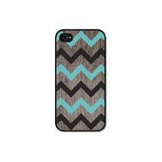 iPhone 4 Case - Turquoise Chevron