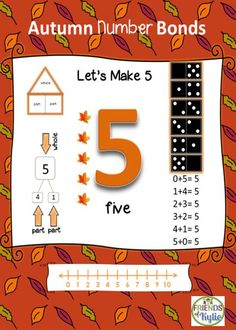 this is part of the complete set (1-10) number bonds and their corresponding mats! Fun!  The set also includes task cards (1-10) using number bonds. Grades Kindergarten thru 1st grade.