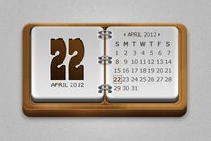 Wood calendar - Available here http://graphicriver.net/item/wood-badges-and-web-elements-/2331770