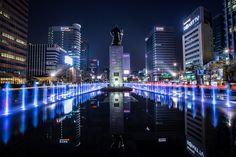 Gwanghwamun square (foun·tain)
