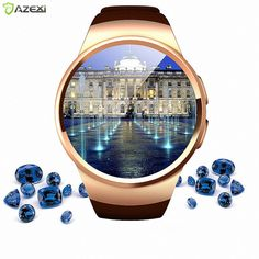 KW18 Pulse Heart Rate Monitor #Smart #Watch Android/IOS Women Men #Smartwatch Bluetooth Reloje SIM Card for sumsang s2 sony iphone