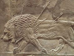 An Assyrian relief from Nineveh, circa 645 BC, at the British Museum