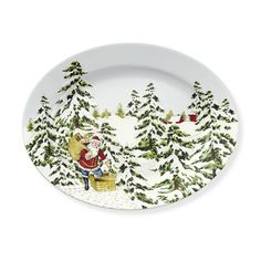 Vintage Holiday Platter #williamssonoma