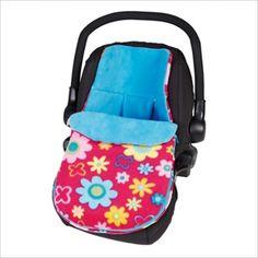 CLAIR DE LUNE Bilstolpose - Fun n Funky Flower. Hold babyen varm og koselig når de er i bilen med denne eksklusive bilstolpose laget i Storbritannia av babyprodukter produsent, Clair de Lune. Denne nydelig bilstolposen er laget av supermyk 'fleece' - perfekt til å holde babyen varm i kalde dager. Egnet for bruk i en gruppe 0 bilstol/Infant Carrier Car Seat med en 5 punkts sikkerhetssele. Kr 459