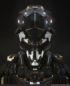 Helmet projet Gesa HardSurface 100% Zbrush concept by Gabriel Dupuis Faceview