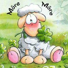 MORE MORE. Cartoon Lamb, Sheep Cartoon, Funny Sheep, Cute Sheep, Watercolor Sketchbook, Watercolor Cards, Cute Images, Cute Pictures, Lamb Drawing