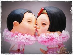 Creepy Cute, Cute Dolls, Bobble Head, Paper Mache, Handmade Toys, Make You Smile, Baby Love, Kids Playing, Candy