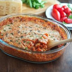 eggplant parmesan quinoa casserole... mmmmmm