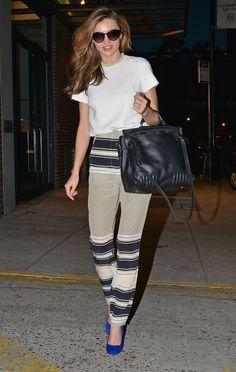 Miranda Kerr's street style is better than ever, wearing Stella McCartney and Ellery.