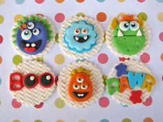 Monster Bash Cupcake Toppers