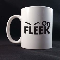 Eyebrows On Fleek Funny Saying Gift Mug 11 or 15 oz White Ceramic Mug by TeesNGiftsForU on Etsy https://www.etsy.com/listing/225148471/eyebrows-on-fleek-funny-saying-gift-mug
