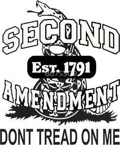 'Second Amendment Gun Right Est 1791 Don't Tread On Me Gadsden Flag Shirt Sticker Cases Pillows Totes Duvet ' Sticker by 8675309 2 Guns, Gadsden Flag, Country Lyrics, By Any Means Necessary, Gun Rights, Dont Tread On Me, Flag Shirt, Funny Design, Bumper Stickers