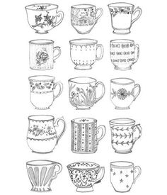 Teacup Collection Print by ALostFeatherNY on Etsy