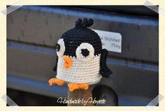 Penguin tow ball cover, crochet
