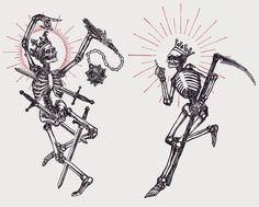 Emo Tattoos, Line Art Tattoos, Anime Tattoos, Skull Tattoos, Body Art Tattoos, Sketch Tattoo Design, Tattoo Sketches, Medieval Tattoo, Steampunk Drawing