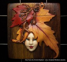 Sandy's Creations in Clay: Polymer Clay Faces in Jewelry
