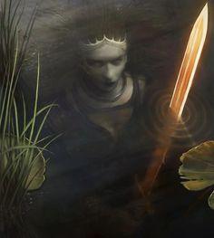 La dama del lago--creepy!