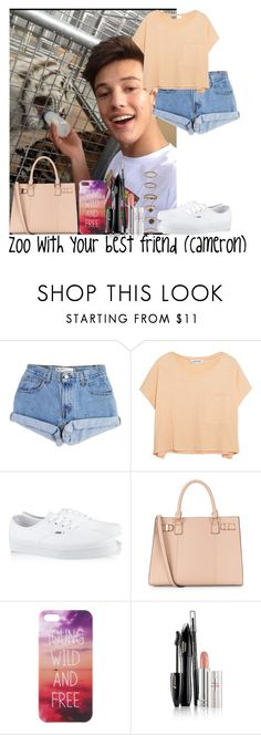 """""""Zoo with your best friend (Cameron)"""" by diirectiioner69 ❤ liked on Polyvore featuring Levi's, Elizabeth and James, Vans, Lancôme and Forever 21"""