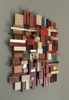 """wood metal and stone mosaic wall art - 24 """"x - (made to order), exotic wood wall art, wood wall sculpture - These wood, metal and stone mosaics are a tribute to natural beauty and a way to use these rare - Mosaic Wall Art, Wood Wall Art, Scrap Wood Art, Art Mural 3d, Stone Mosaic, Wood Mosaic, Wood Texture, Wooden Walls, Wall Sculptures"""