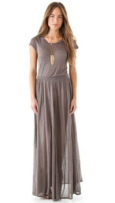 Heather Maxi Tee Dress (also avail in navy blue)