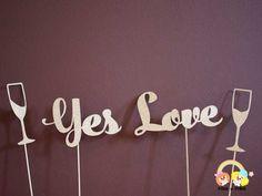 Detaliu accesorii candy bar nuntă din litere gumate glitter Wedding Props, Photo Book, Marie, Love, Amor