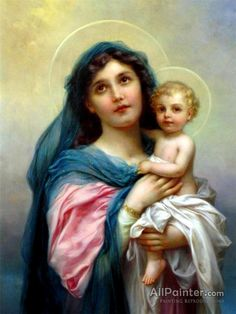 Hans Zatzka,Madonna With Child oil painting reproductions for sale