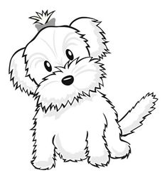 Yorkie+Coloring+Pages | Color a Puppy!