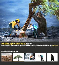 """It's not only the trees you cut"" by Felegeanu Eduard.  Meseriasii sunt pe 123RF!"