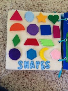Shape matching page with velcro