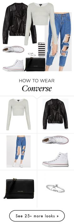 """Untitled #212"" by findthefinerthings on Polyvore featuring Converse, Zara, Topshop, Michael Kors and Casetify"