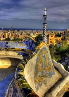 Park Guell. Antoni Gaudi. Barcelona, Spain. 1900-14. My favorite architect from all
