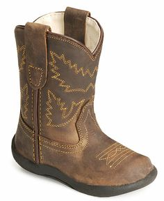 little mans first boots, too cute and w/ rubber soles. Old West toddlers' crazyhorse boots