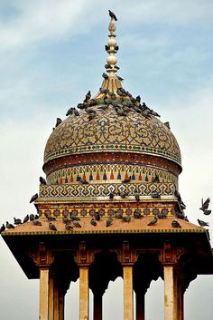 Wazir Khan Mosque, Lahore by Naeem Rashid, via Flickr - The birds appreciate it too!
