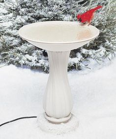 Allied Precision Heated Bird Bath with Plastic Pedestal